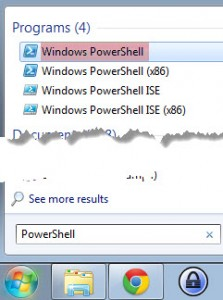 Searching for PowerShell