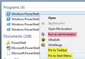 Running PowerShell as Administrator