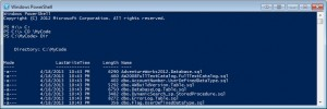 Running Dir in PowerShell